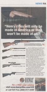 henri rifles USA TODAY
